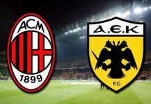 milan aek atene streaming diretta tv