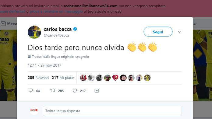 Montella, Carlos Bacca: