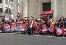 Tifosi Milan a Roma