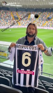 Udinese Fiorentina; previous Milan Jankulovski within the stands